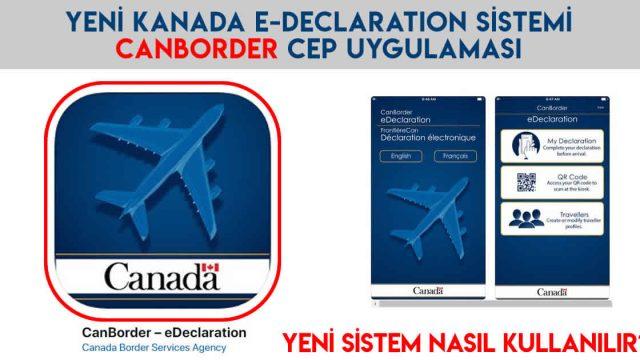 CanBorder e-Declaration Mobil Uygulaması ve Kiosk Sistemi