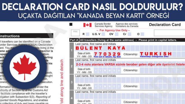 """Uçakta Dağıtılan """"Beyan Kartı"""" (Declaration Card) Nasıl Doldurulur?"""