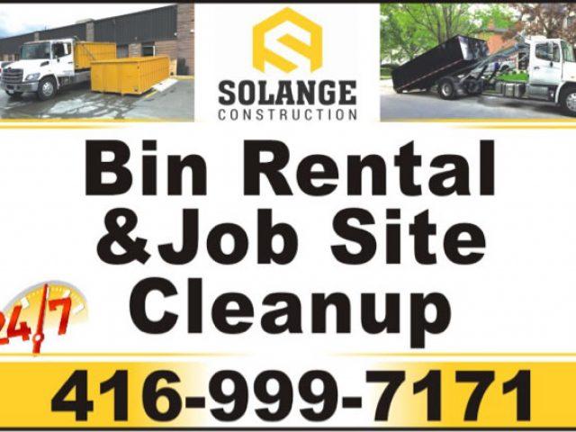 Solange Construction Bin Kiralama Temizlik